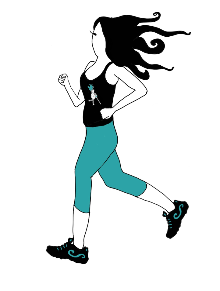 Image of Abby running is described in the body of the post.