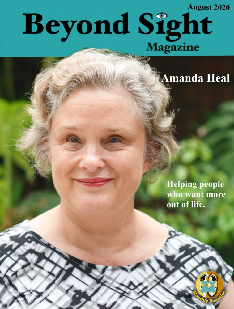 Amanda Heal Beyond Sight Magazine Cover described in the body of the post.